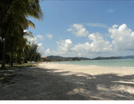 Spiaggia sull'isola di Langkawi