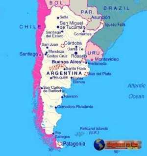 Mappa Argentina con alcune tappe