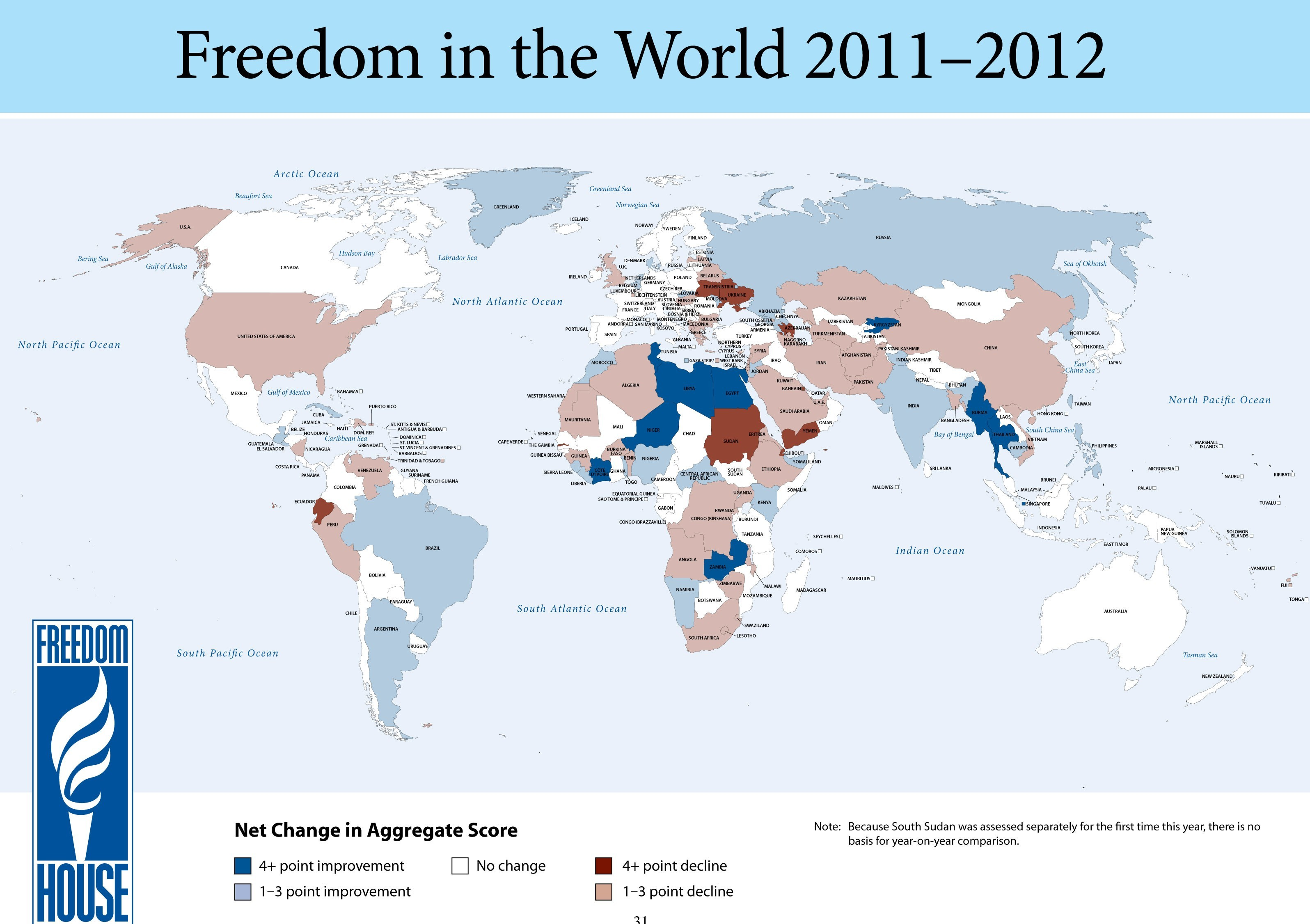Freedom in the World Map 2012