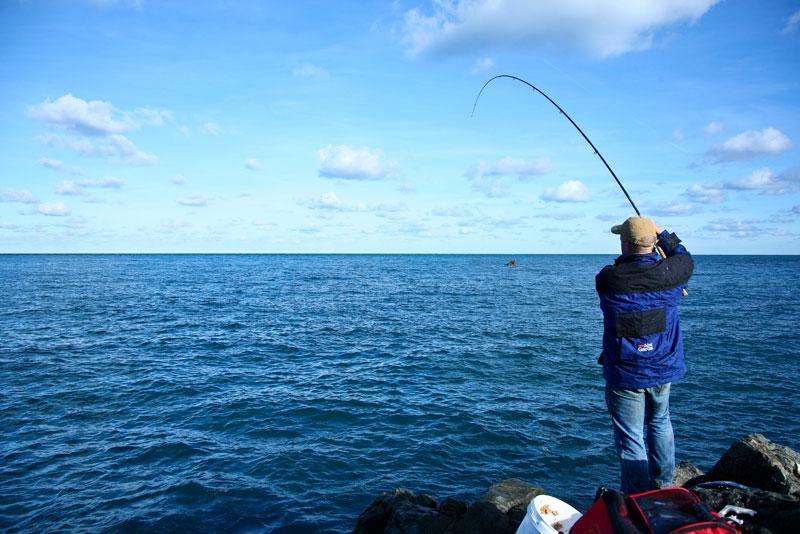 Mark Harding lifts into an Alderney mullet