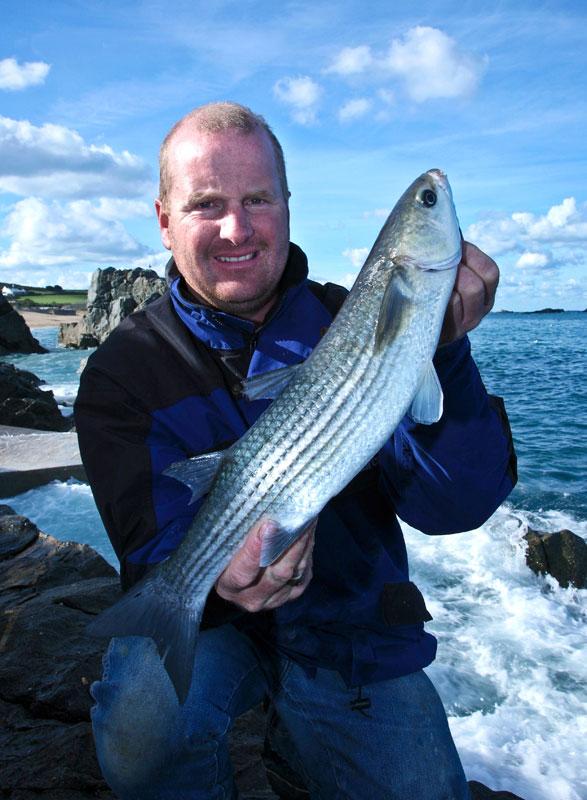 Mark Harding holds an Alderney mullet