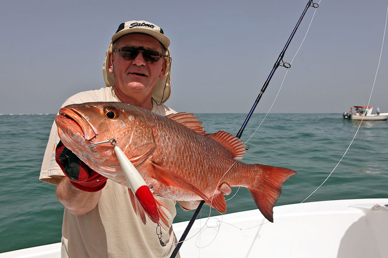 a red fish caught off Guinea-Bissau