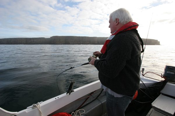 David Proudfoot fishing off Dunnet Head