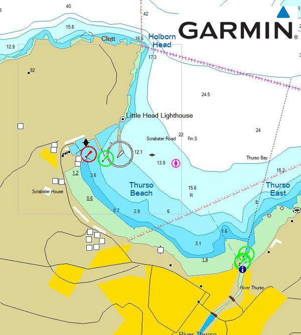 a chart of Thurso Bay