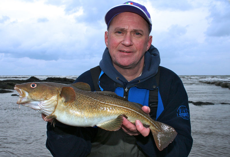 Gordon Lyall with a winter codling