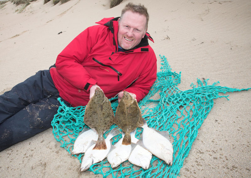 George with a haul of Caithness coast flounders