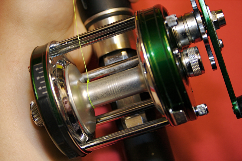 Step 1 - balancing a shore multiplier reel for casting