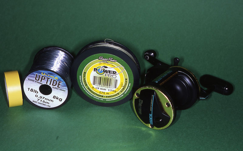Step 1 - securely spooling a reel with braid