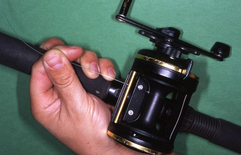 Step 2 - securely spooling a reel with braid