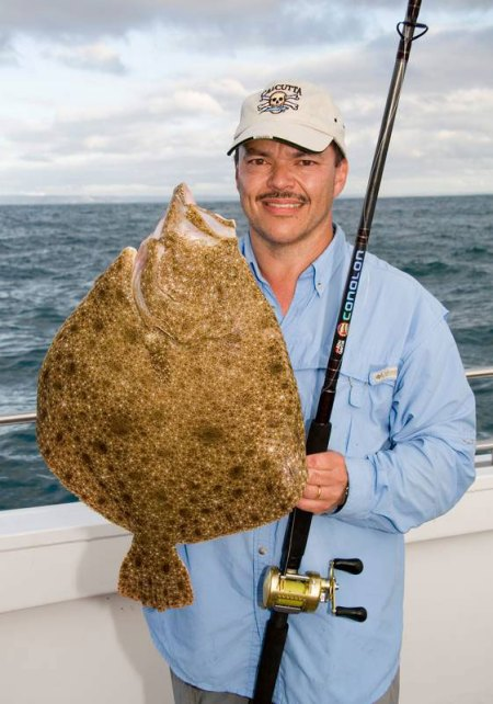 a nice turbot on the Abu Conolon Travel Combo rod