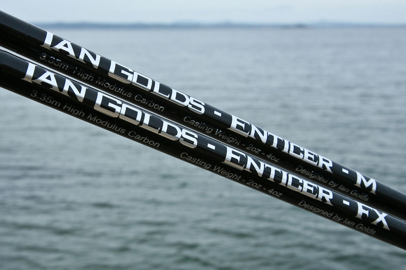 Ian Golds shore rods enticer