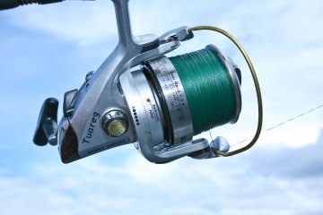 right side of a Grauvell Tuareg Boat 5000 fixed spool reel