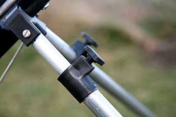 the locking screws on an Ian Golds Telescopic Tripod