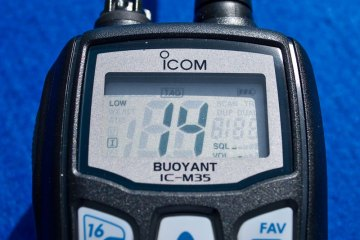 Icom IC-M35 VHF Transceiver screen