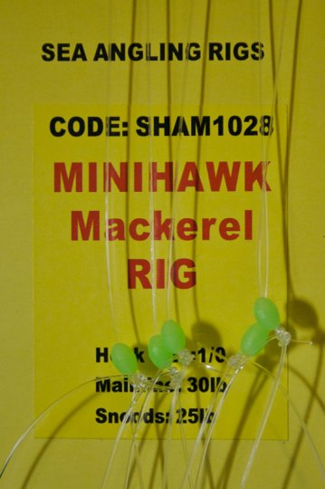 Shamrock Tackle Minihawk Mackerel Rig label
