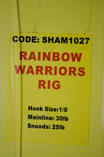 Shamrock Tackle Rainbow Warriors label