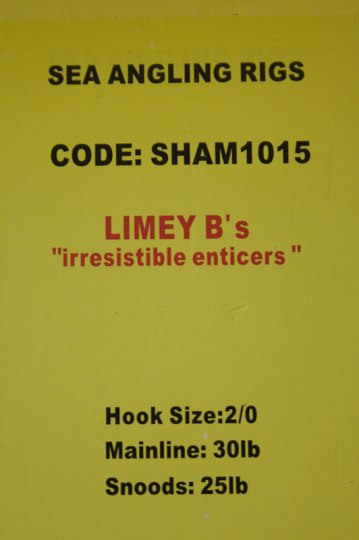 Shamrock Tackle Limey B's label