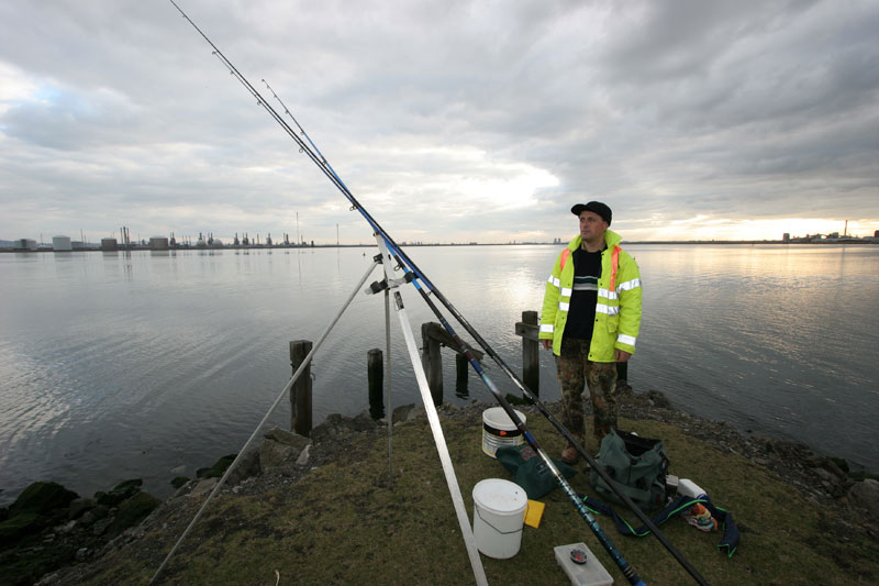 Steve Walker on an old quay at Greatham Creek