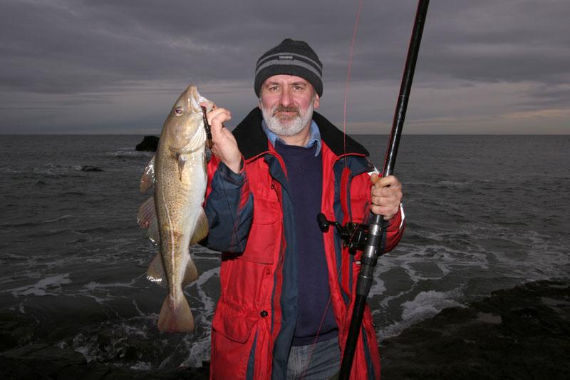 John Osinski holds his Muchalls cod