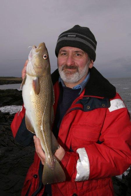 John Osinski with a Muchalls cod