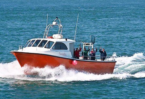 charter boat Smuggler of Bray at sea