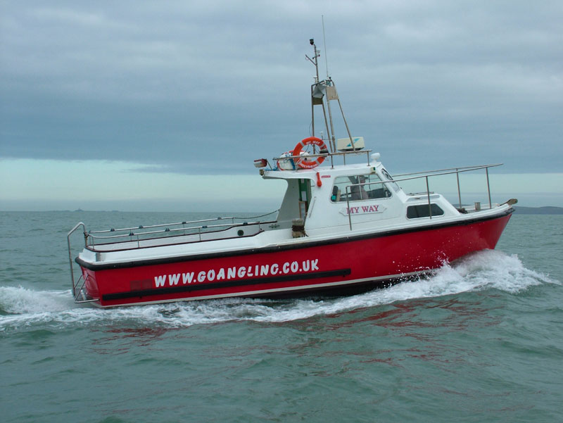 Holyhead charter boat MyWay heads to sea