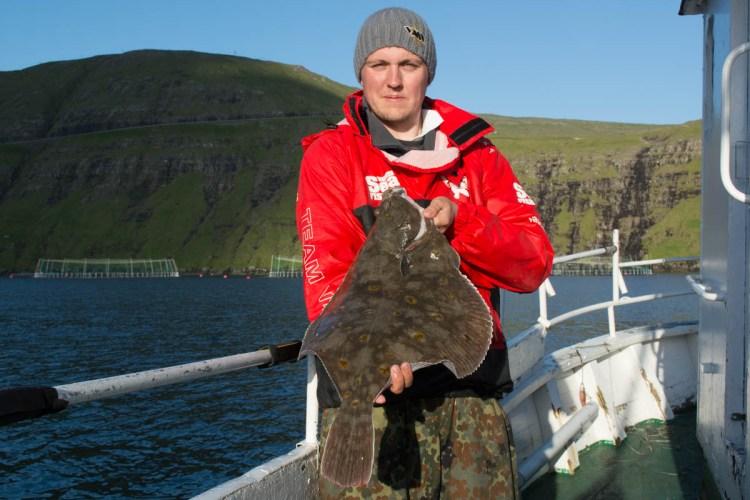 plaice fishing Faroe Islands fish for Ally