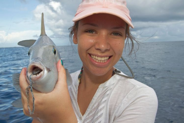 mexico fishing trigger fish mouth