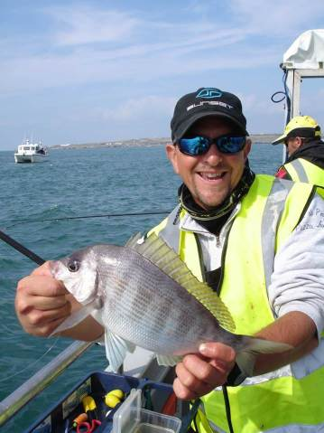 European Boat Championship Weymouth David with a bream