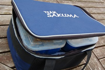 Sakuma Cooler Bag with bait tubs