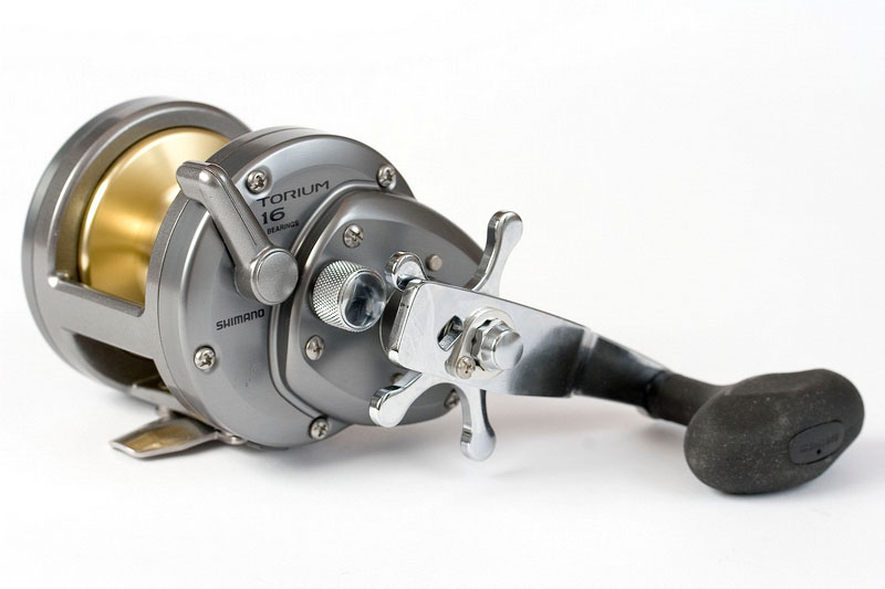 Shimano Torium 16 reel handle side