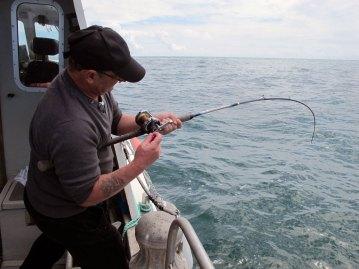 boat fishing kilmore reef rod bent