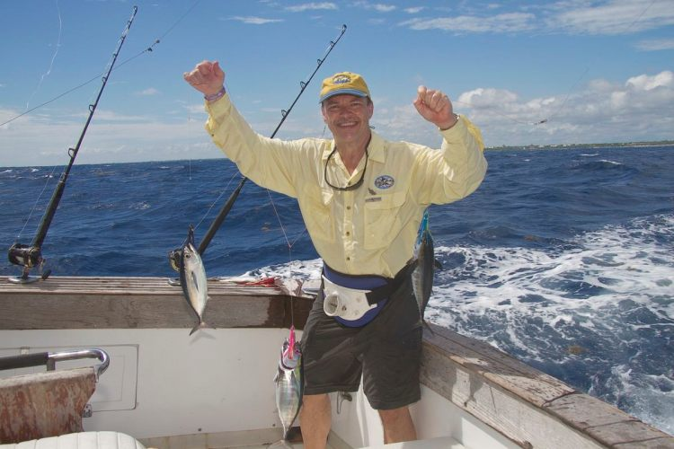 Des gets a treble hit of Blackfin tuna