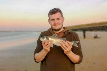 A typical Sea Palling school bass