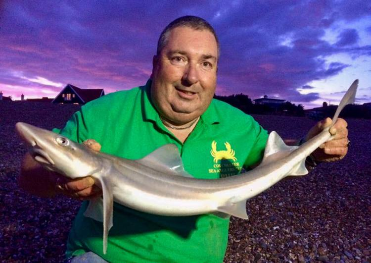 Phil Buy with his 5lb 3oz smoothhound