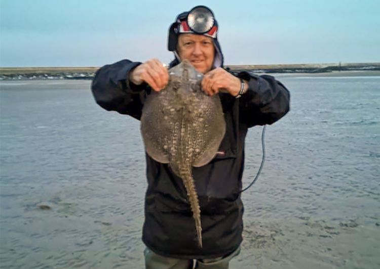 Carl Lawton with a ray