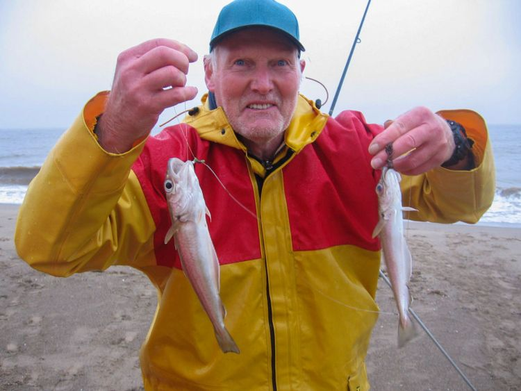 Fourth placed Alan Steadman with a whiting double