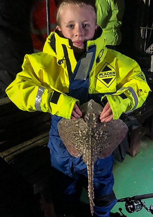 Mathew Cordwell with his ray