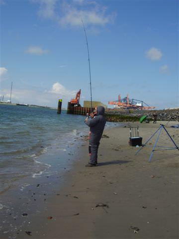 Dutch beach fishing