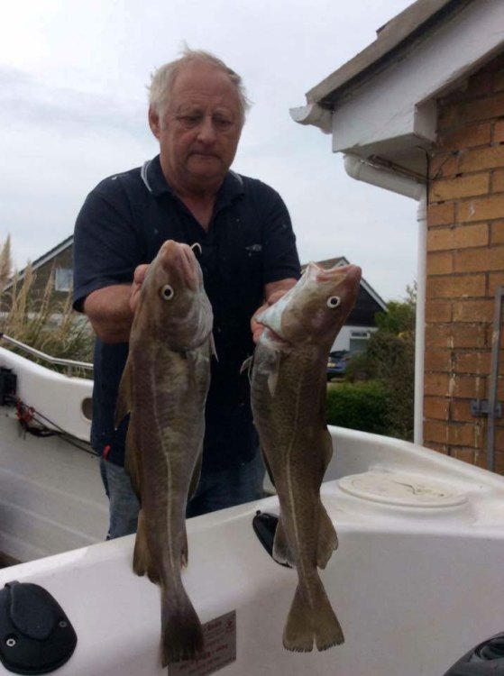 Peter Scott with his cod