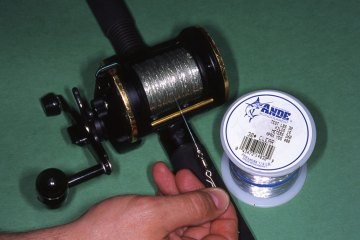 Step 11 - securely spooling a reel with braid