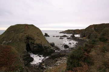 the rocky shore at Muchalls