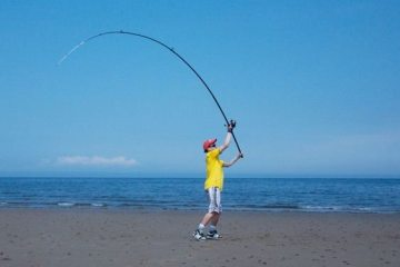 Sea Angling for Beginners - Rods casting