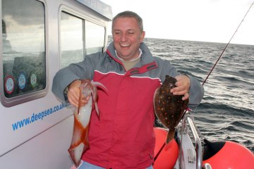 Weymouth plaice fishing Supernova plaice squid