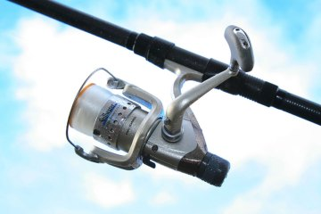 Stillwater Rapid HR300 Reel on bass rod