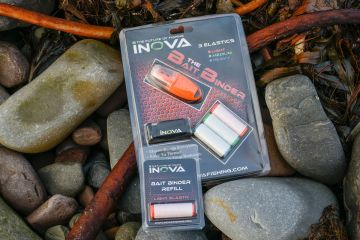 The packaged Inova Bait Binder with spare elastic