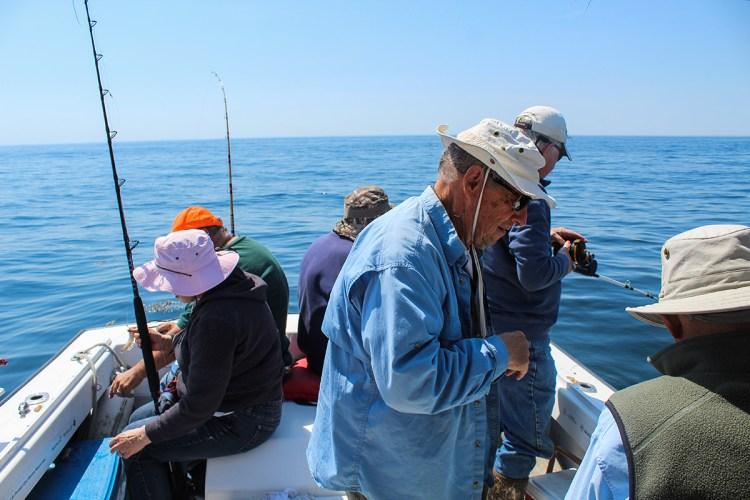 Anglers aboard Lily B II