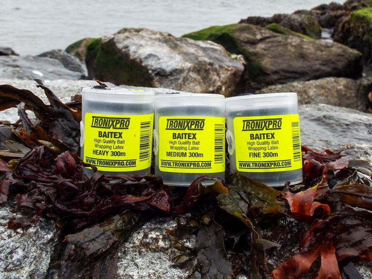 Tronixpro Baitex range of bait wrapping latex