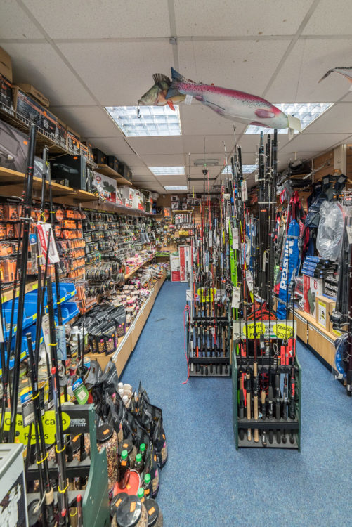 Weymouth Angling Centre rods and carp section