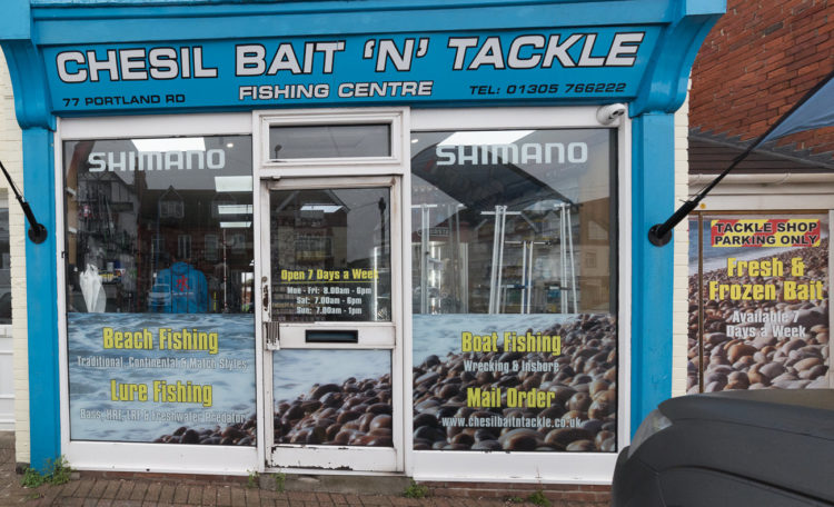 Chesil Bait N Tackle frontage